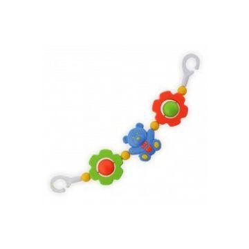 Погремушка-растяжка для коляски Baby MixПогремушка-растяжка для коляски Baby Mix Мишки и Цветочки 636<br>