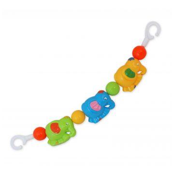 Погремушка-растяжка для коляски Baby MixПогремушка-растяжка для коляски Baby Mix Слоники 63002ab<br>