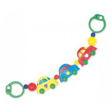 Погремушка-растяжка для коляски Baby MixПогремушка-растяжка для коляски Baby Mix Машинки 152<br>