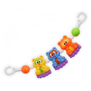 Погремушка-растяжка для коляски Baby MixПогремушка-растяжка для коляски Baby Mix Мишки 161-164P<br>