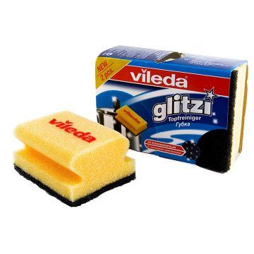 Губка для кастрюль ViledaГубка для кастрюль Vileda Глитци 2 шт<br>