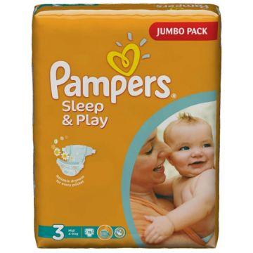 Подгузники PampersПодгузники Pampers Sleep and Play Midi (4-9 кг) Джамбо упаковка 78 шт, в упаковке 78 шт., размер M<br><br>Штук в упаковке: 78<br>Размер: M
