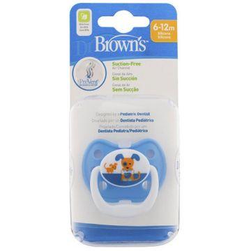 Пустышка Dr.BrownsПустышка Dr.Browns силиконовая ортодонтическая Классик PreVent синяя 6-12 мес<br>