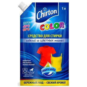 Жидкое средство для стирки изделий из тканей ChirtonЖидкое средство для стирки изделий из тканей Chirton Color 1000 мл (мягкая упаковка)<br>