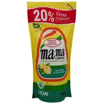 Средство для мытья посуды Mama LemonСредство для мытья посуды Mama Lemon  Лимон запасной блок 600 мл<br>