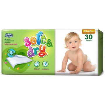 Пеленки детские Helen HarperПеленки детские Helen Harper впитывающие Soft and Dry 60x60 30 шт, в упаковке 30 шт.<br><br>Штук в упаковке: 30