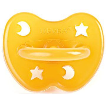 Пустышка HeveaПустышка Hevea из натурального каучука (латекса) Star and Moon 0-3 мес.<br>
