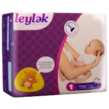 Подгузники LeylеkПодгузники Leylеk размер NB (2-5 кг) 25 шт, в упаковке 25 шт., размер NB<br><br>Штук в упаковке: 25<br>Размер: NB