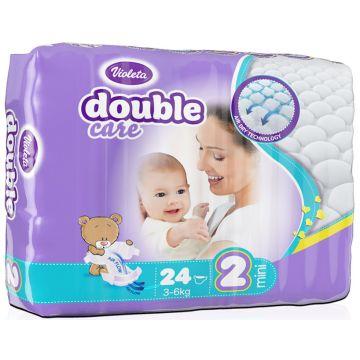 Подгузники VioletaПодгузники Violeta размер S (3-6 кг) 24 шт, в упаковке 24 шт., размер S<br><br>Штук в упаковке: 24<br>Размер: S