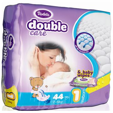 Подгузники VioletaПодгузники Violeta размер NB (2-5 кг) 44 шт, в упаковке 44 шт., размер NB<br><br>Штук в упаковке: 44<br>Размер: NB