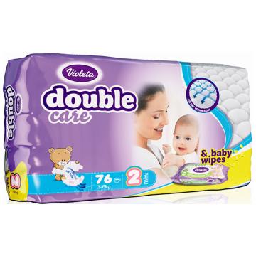 Подгузники VioletaПодгузники Violeta размер S (3-6 кг) 76 шт, в упаковке 76 шт., размер S<br><br>Штук в упаковке: 76<br>Размер: S