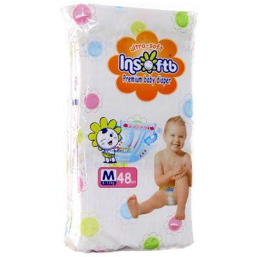 Подгузники InsoftbПодгузники Insoftb Premium Ultra-soft размер M (6-11 кг) 48 шт, в упаковке 48 шт., размер M<br><br>Штук в упаковке: 48<br>Размер: M
