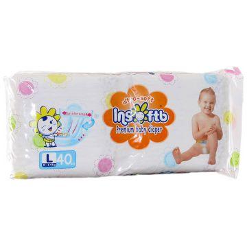 Подгузники Insoftb Premium Ultra-soft размер L (9-14 кг) 40 шт