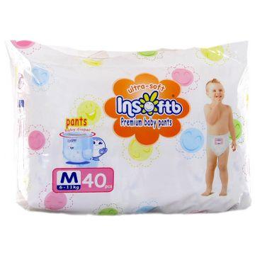 Трусики InsoftbТрусики Insoftb Premium Ultra-soft M (6-11 кг) 40 шт, в упаковке 40 шт., размер M<br><br>Штук в упаковке: 40<br>Размер: M
