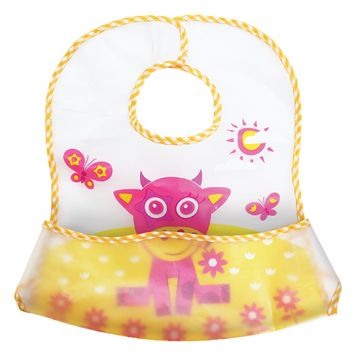 Нагрудник детский LubbyНагрудник детский Lubby большой с карманом на липучке В мире животных от 6 мес. 14075<br>