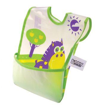 Нагрудник детский LubbyНагрудник детский Lubby с карманом на липучке В мире животных от 6 мес. 14076<br>