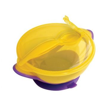Тарелка с ложкой и присоской Lubby