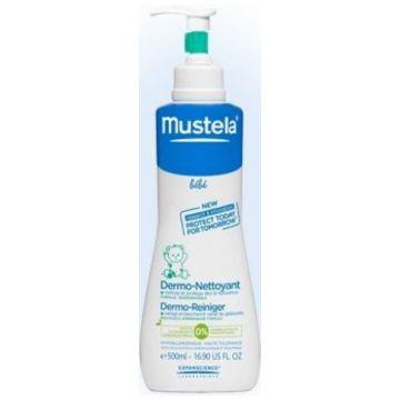 Гель для мытья MustelaГель для мытья Mustela Bebe детский, флакон с дозатором 500 мл<br>