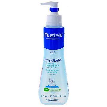 Жидкость очищающая детская MustelaЖидкость очищающая детская Mustela Bebe PhysiObebe флакон с дозатором 300 мл<br>