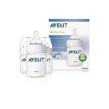 Бутылочка для кормления Avent (полипропилен) (3шт) 125 мл
