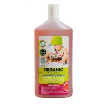 Эко-гель для мытья полов Organic PeopleЭко гель Organic People для мытья всех видов полов 500 мл<br>