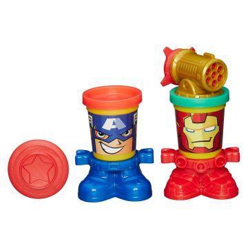 Масса для лепки Play-dohМасса для лепки Play-doh Герои Марвел Железный Человек и Капитан Америка B0745<br>