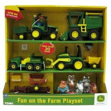 Игровой набор TomyИгровой набор Tomy Веселая Ферма John Deere 42945, возраст от 18 мес<br><br>Возраст: от 18 мес