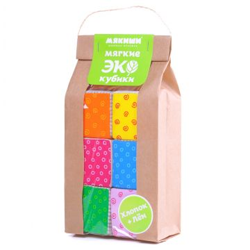 Игрушка МякишиИгрушка Мякиши Кубики Эко  334, в упаковке 1 шт.<br><br>Штук в упаковке: 1