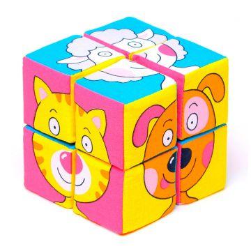 Игрушка МякишиИгрушка Мякиши Кубики Собери картинку (Зверята) 336, в упаковке 1 шт.<br><br>Штук в упаковке: 1
