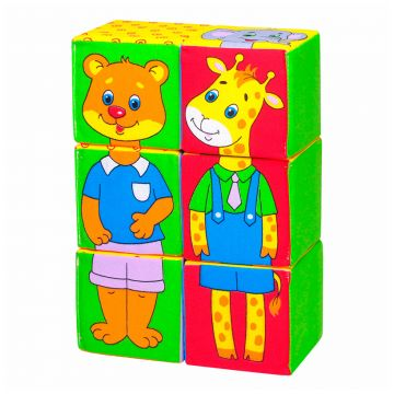 Игрушка МякишиИгрушка Мякиши Кубики Собери картинку (Зоопарк) 340, в упаковке 1 шт.<br><br>Штук в упаковке: 1