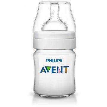 Бутылочка для кормления AventБутылочка для кормления Avent Philips серия Classic+ из полипропилена (125 мл 0 мес+) SCF560/17, возраст 1 ступень (0-3 мес)<br><br>Возраст: 1 ступень (0-3 мес)
