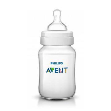 Бутылочка для кормления AventБутылочка для кормления Avent Philips серия Classic+ из полипропилена (260 мл. 1 мес+) SCF563/17, возраст 1 ступень (0-3 мес)<br><br>Возраст: 1 ступень (0-3 мес)