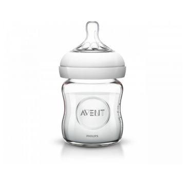 Бутылочка для кормления AventБутылочка для кормления Avent Philips серия Natural из стекла (120 мл 0 мес+) SCF671/17, возраст 1 ступень (0-3 мес)<br><br>Возраст: 1 ступень (0-3 мес)