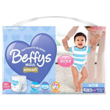 Трусики BeffysТрусики Beffys extra soft для мальчиков XL (13-18 кг) 32 шт, в упаковке 32 шт., размер XL (BIG)<br><br>Штук в упаковке: 32<br>Размер: XL (BIG)