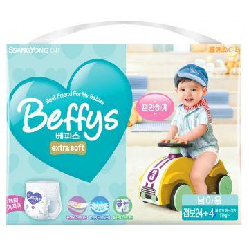 Трусики BeffysТрусики Beffys extra soft для мальчиков XXL (от 17 кг) 28 шт, в упаковке 28 шт., размер XXL<br><br>Штук в упаковке: 28<br>Размер: XXL
