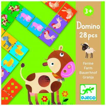 Настольная игра детская DjecoНастольная игра детская Djeco Домино Ферма, возраст от 3 лет<br><br>Возраст: от 3 лет