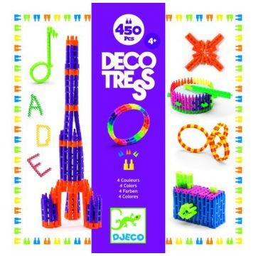 Конструктор DjecoКонструктор Djeco Деко Тресс (450 деталей), возраст от 4 лет<br><br>Возраст: от 4 лет