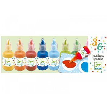 Краски для рисования пальцами DjecoКраски для рисования пальцами Djeco , возраст от 3 лет<br><br>Возраст: от 3 лет