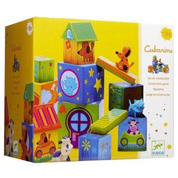 Набор Кубанимо DjecoНабор Кубанимо Djeco 14 кубиков и 3 животных, возраст от 1 года<br><br>Возраст: от 1 года