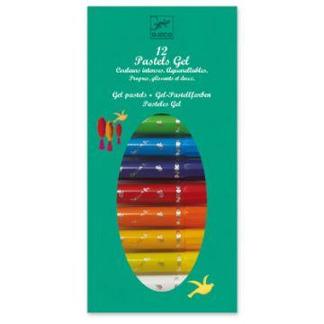 Набор пастельных карандашей DjecoНабор пастельных карандашей Djeco 12 шт. (синий), возраст от 3 лет<br><br>Возраст: от 3 лет