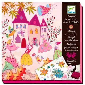Набор со штампами DjecoНабор со штампами Djeco Создай историю Принцессы, возраст от 6 лет<br><br>Возраст: от 6 лет