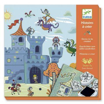 Набор со штампами DjecoНабор со штампами Djeco Создай историю Рыцари, возраст от 6 лет<br><br>Возраст: от 6 лет