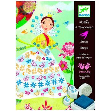 Набор штампов DjecoНабор штампов Djeco «Девушки с цветами», возраст от 6 лет<br><br>Возраст: от 6 лет