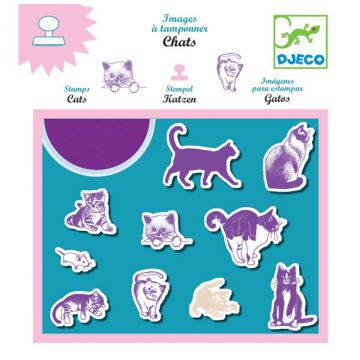 Набор штампов DjecoНабор штампов Djeco «Кошки», возраст от 3 лет<br><br>Возраст: от 3 лет
