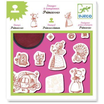 Набор штампов DjecoНабор штампов Djeco Принцессы, возраст от 4 лет<br><br>Возраст: от 4 лет