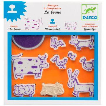 Набор штампов DjecoНабор штампов Djeco Ферма, возраст от 3 лет<br><br>Возраст: от 3 лет