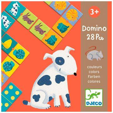Настольная игра детская DjecoНастольная игра детская Djeco Домино Цветные животные, возраст от 3 лет<br><br>Возраст: от 3 лет