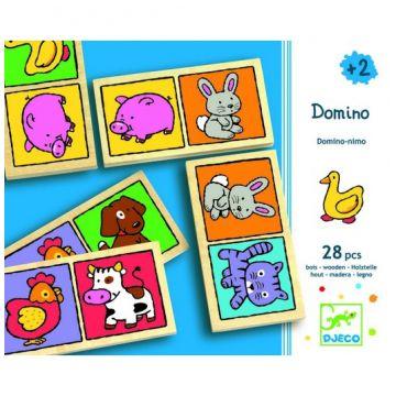 Настольная игра детская DjecoНастольная игра детская Djeco Домино-нимо, возраст от 2 лет<br><br>Возраст: от 2 лет