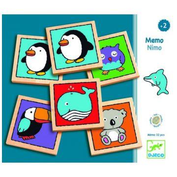 Настольная игра детская DjecoНастольная игра детская Djeco Мемо-нимо, возраст от 3 лет<br><br>Возраст: от 3 лет