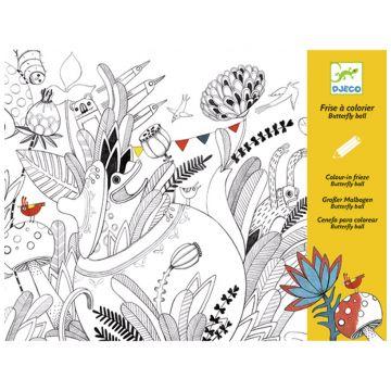 Раскраска DjecoРаскраска Djeco Бал бабочек 126 м, возраст от 6 лет<br><br>Возраст: от 6 лет